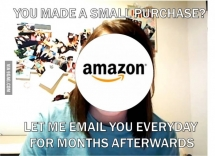 So you made a small purchase from Amazon
